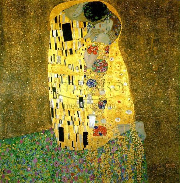 Картина Поцілунок, Густав Клімт  Гірник