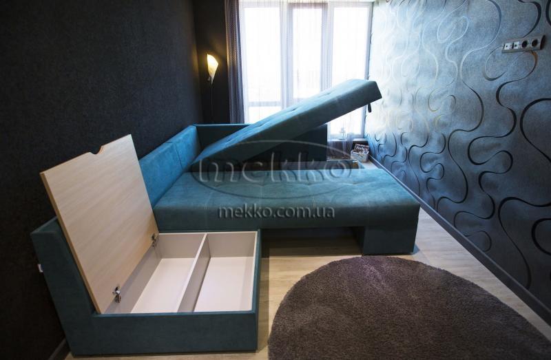 Кутовий диван з поворотним механізмом (Mercury) Меркурій ф-ка Мекко (Ортопедичний) - 3000*2150мм  Гірник-7