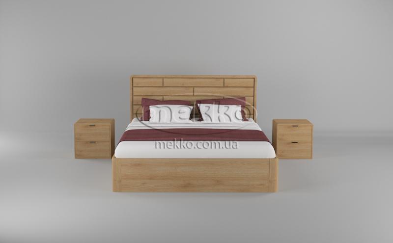 Ліжко Лауро з Підйомником (масив бука /масив дуба) T.Q.Project  Гірник-4