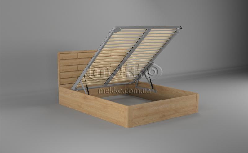 Ліжко Лауро з Підйомником (масив бука /масив дуба) T.Q.Project  Гірник-2
