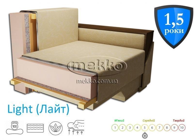 Кутовий диван з поворотним механізмом (Mercury) Меркурій ф-ка Мекко (Ортопедичний) - 3000*2150мм  Гірник-2